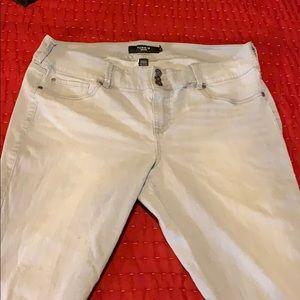 Torrid grey fade skinny jean